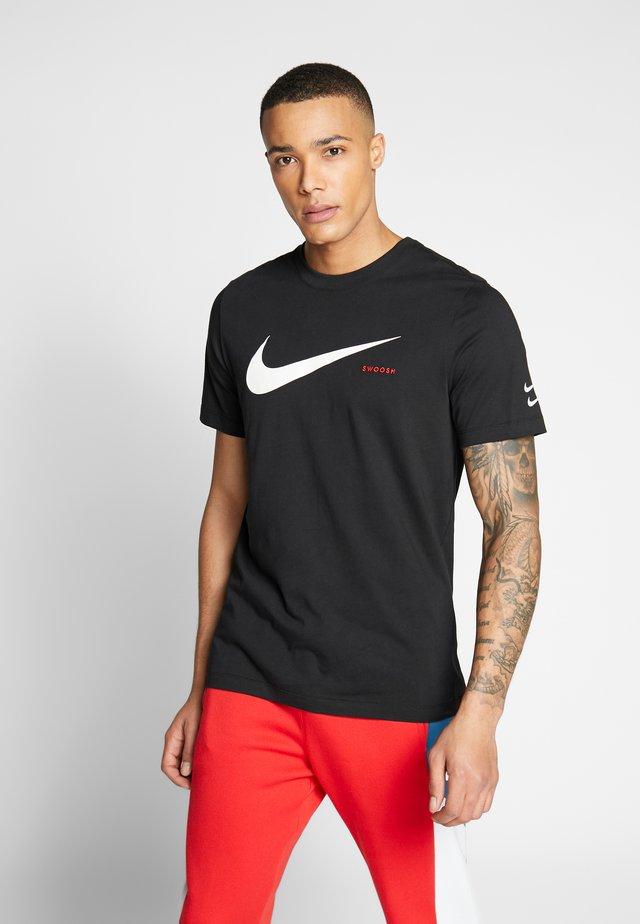 T-shirt med print - black/white