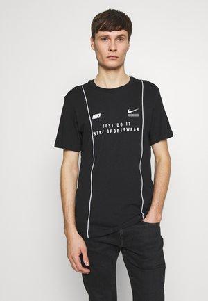 TEE - T-shirt con stampa - black/white