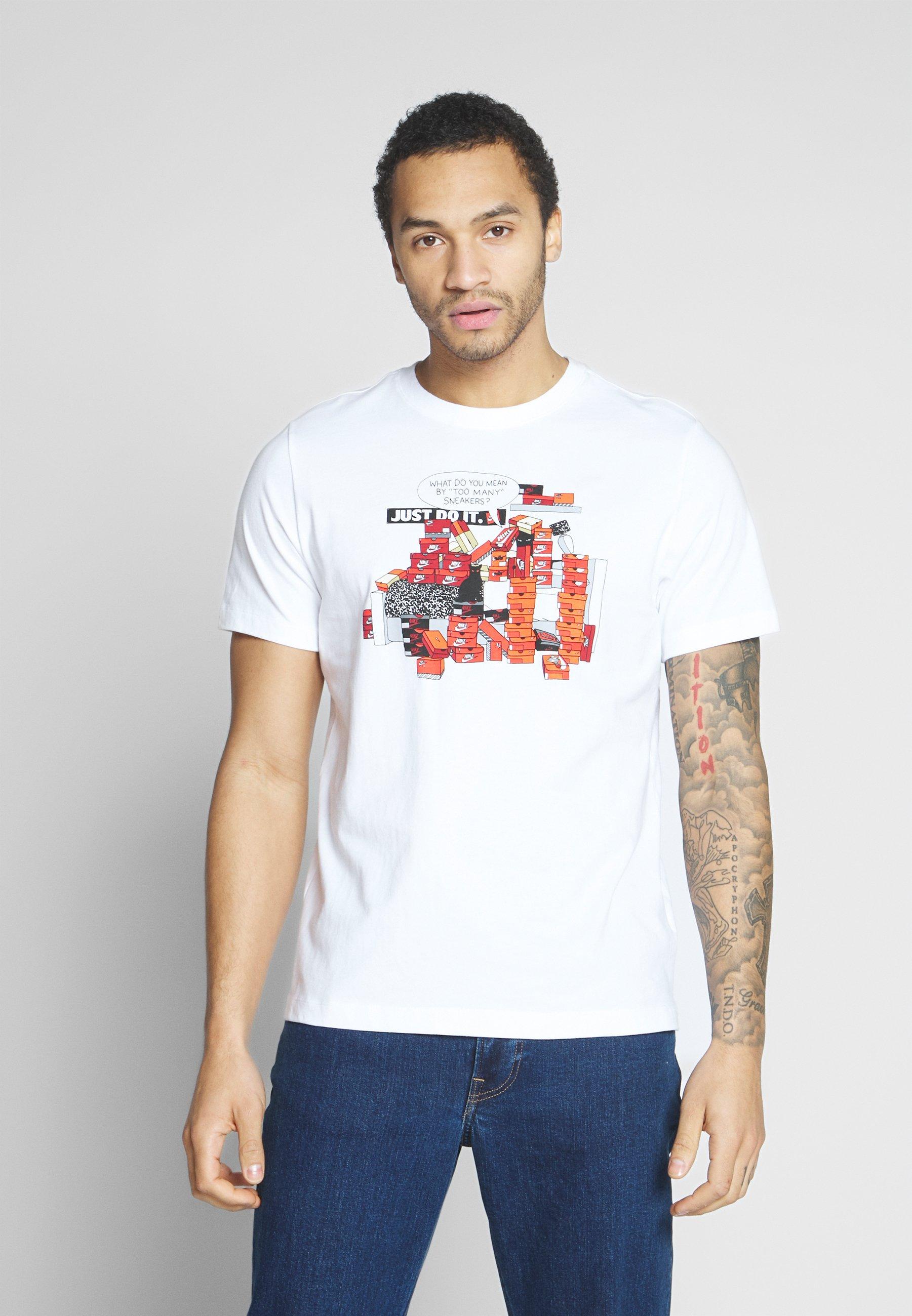 Nike Sportswear M NSW TEE SNKR CLTR 7 - T-shirt z nadrukiem - white