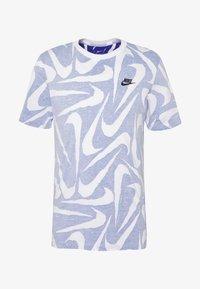 Nike Sportswear - HAND DRAWN TEE - Print T-shirt - deep royal blue/white - 3