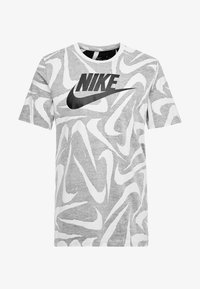 Nike Sportswear - HAND DRAWN TEE - Camiseta estampada - black / white - 4