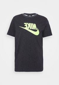 Nike Sportswear - FESTIVAL TEE PRNT - T-shirts med print - smoke grey / volt - 4