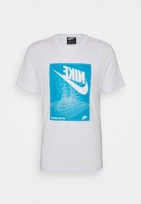 Nike Sportswear - FESTIVAL TEE - Print T-shirt - white/laser blue - 4