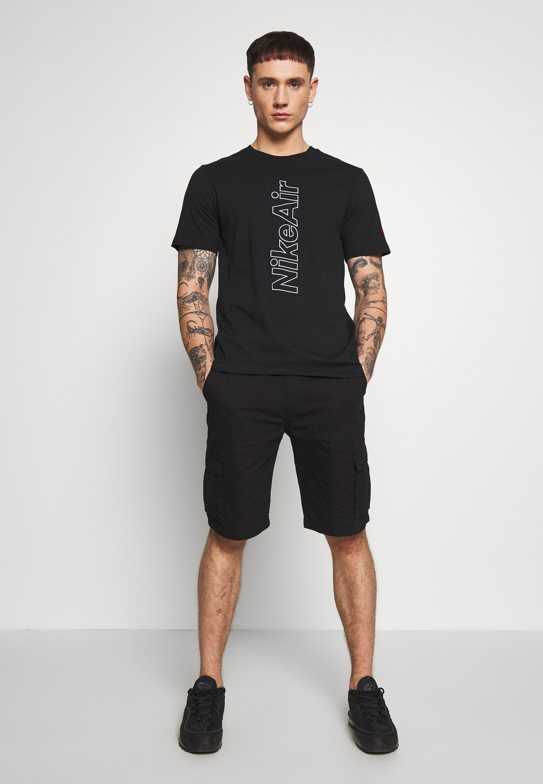Nike Sportswear TEE NIKE AIR OUTLINE - T-shirt z nadrukiem - black