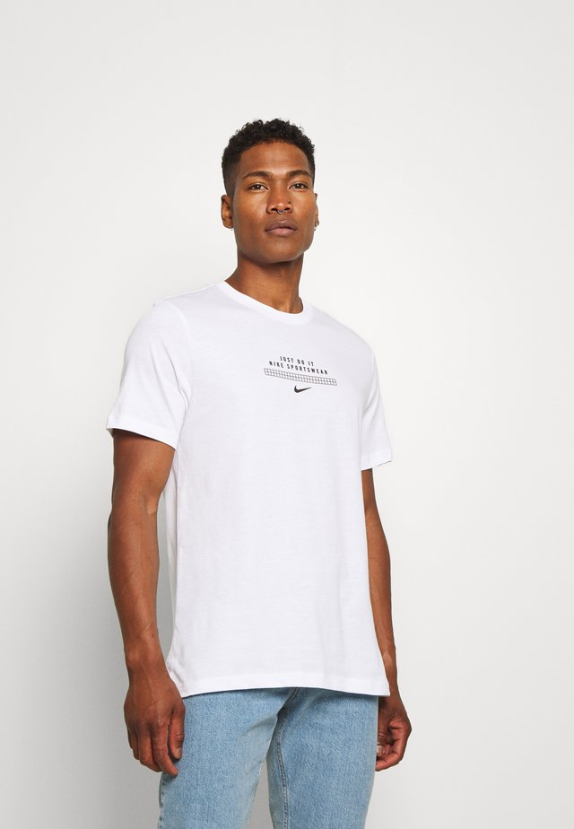 TEE - T-shirt con stampa - white/black