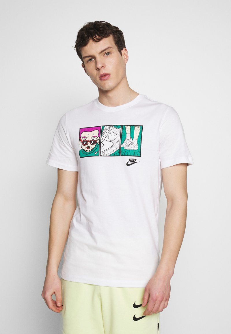 Nike Sportswear - TEE ILLUSTRATION - Print T-shirt - white