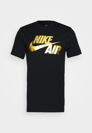 TEE PREHEAT AIR - Print T-shirt - black