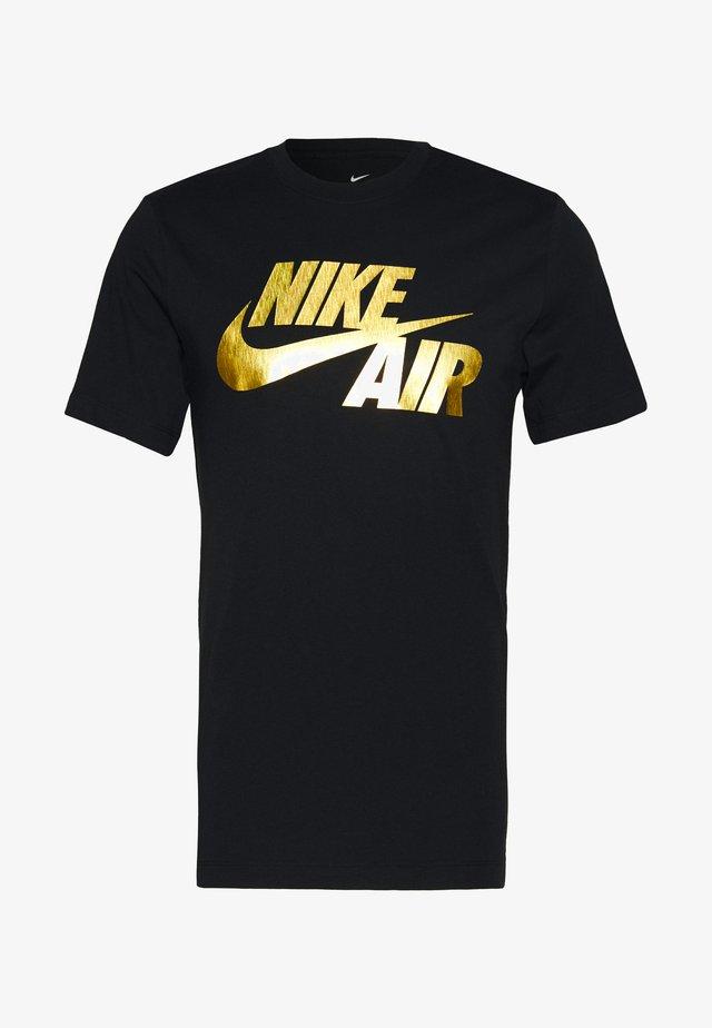 TEE PREHEAT AIR - Print T-shirt - black