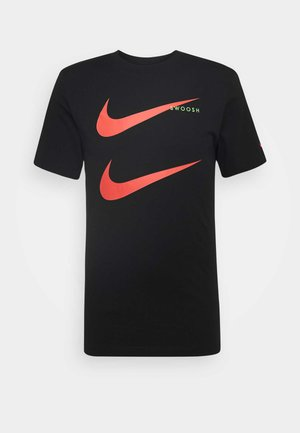 TEE - T-shirts med print - black/ember glow