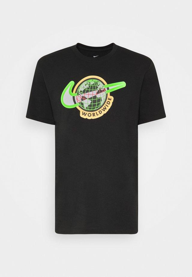 TEE WORLDWIDE - T-shirt med print - black