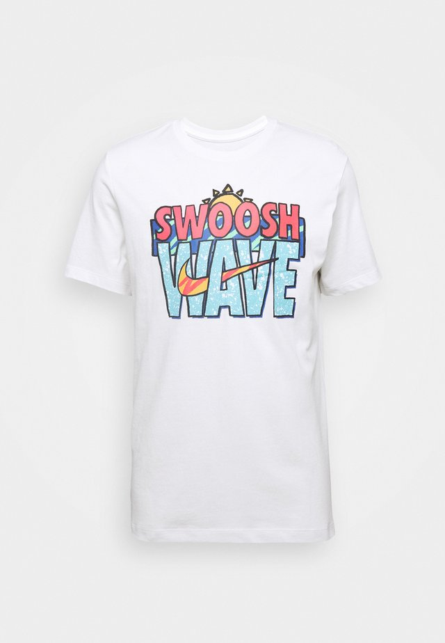 TEE SUMMER WAVE - T-shirt imprimé - white