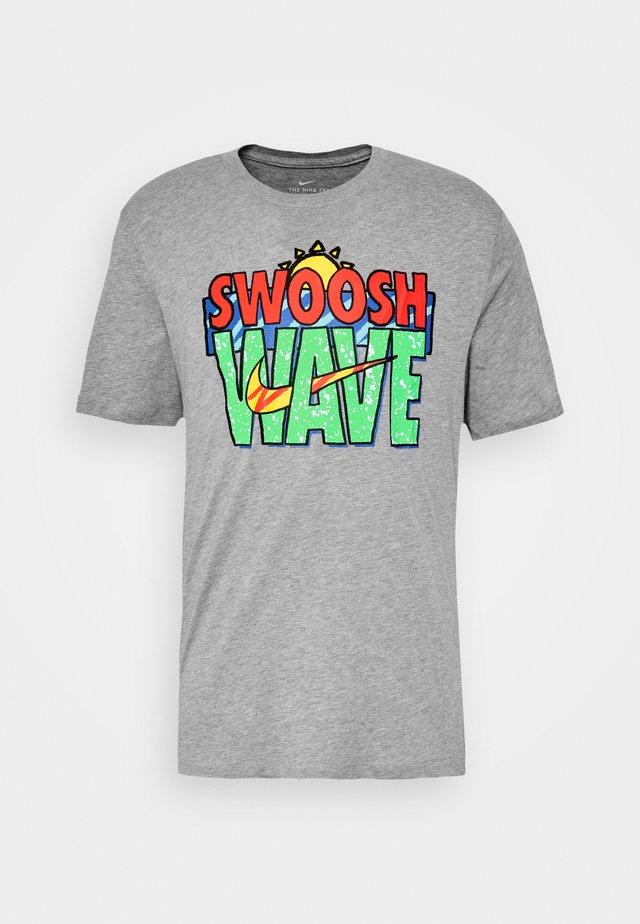 TEE SUMMER WAVE - T-shirt imprimé - grey heather
