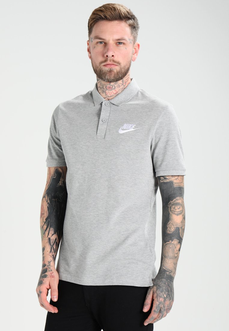 Nike Sportswear - MATCHUP - Polo - grey heather/white