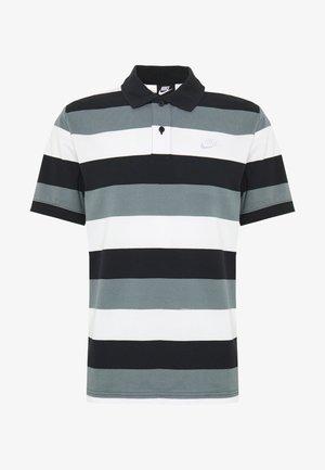 MATCHUP STRIPE - Koszulka polo - black/white