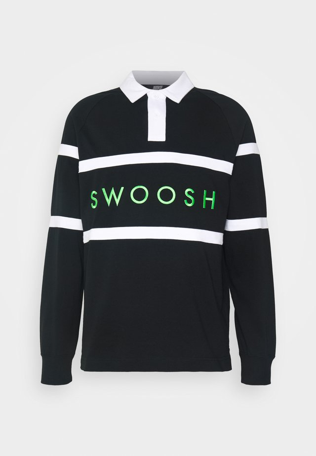 RUGBY - Polo - black/white/green