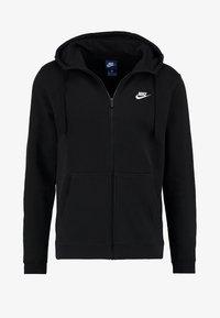 Nike Sportswear - CLUB FULL ZIP HOODIE - Huvtröja med dragkedja - black/black/white - 4