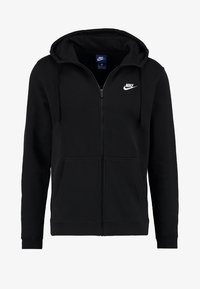 Nike Sportswear - CLUB FULL ZIP HOODIE - Sweatjakke /Træningstrøjer - black/black/white - 4