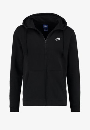 CLUB FULL ZIP HOODIE - Bluza rozpinana - black/black/white
