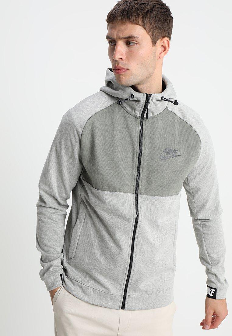 Nike Sportswear - HOODIE  - Sweatshirt - light bone/black/dark stucco