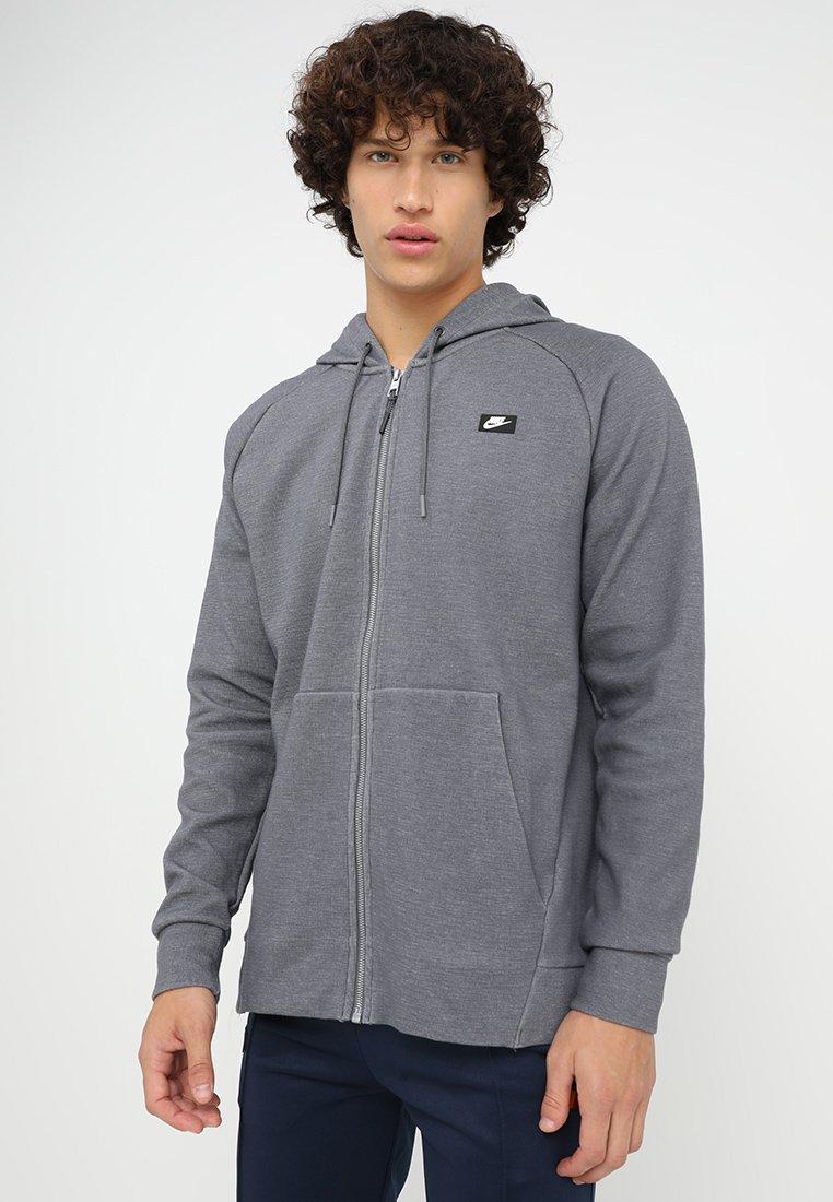 Nike Sportswear - OPTIC HOODIE - Zip-up hoodie - dark grey heather