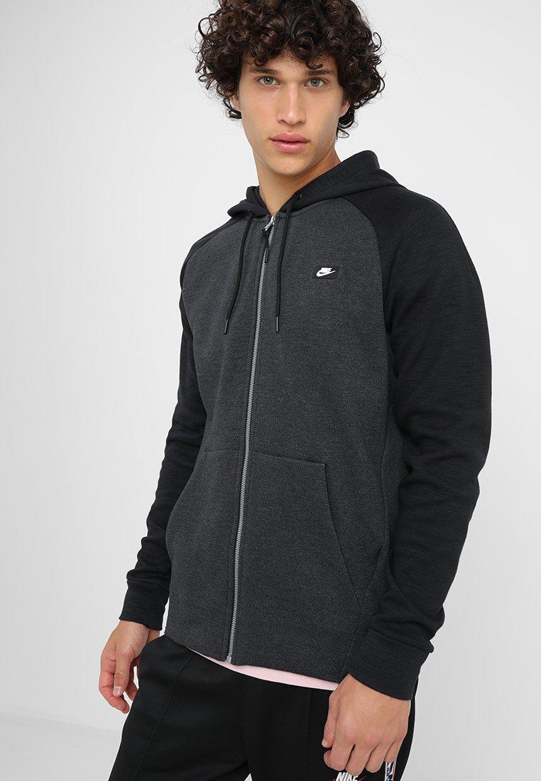 Nike Sportswear - OPTIC HOODIE - Huvtröja med dragkedja - black