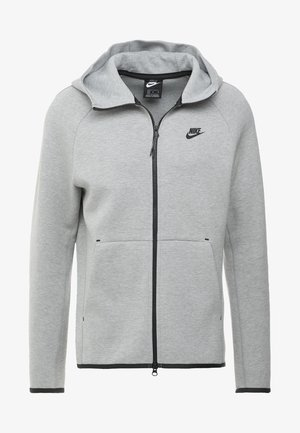 TECH FULLZIP HOODIE - Sweatjakke /Træningstrøjer - dark grey heather/black