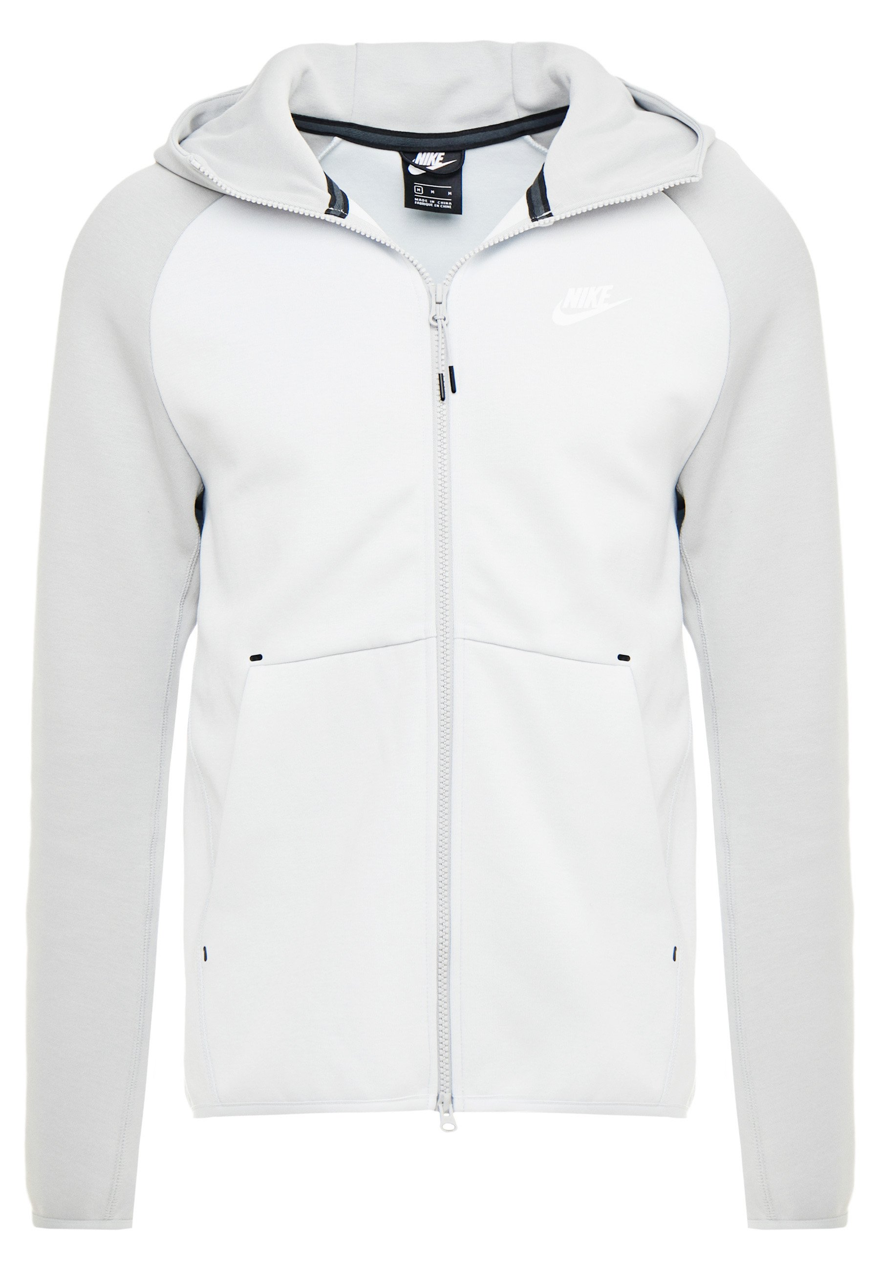 TECH FULLZIP HOODIE veste en sweat zippée pure platinumsmoke grey