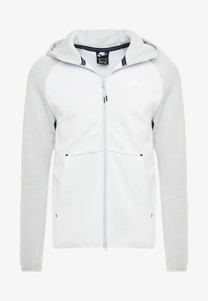 TECH FULLZIP HOODIE - Zip-up hoodie - pure platinum/smoke grey