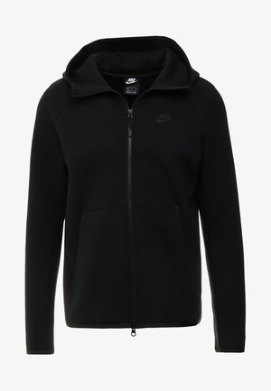 TECH FULLZIP HOODIE - veste en sweat zippée - black
