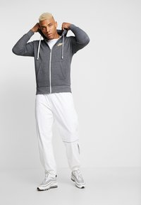 Nike Sportswear - HERITAGE  - Zip-up hoodie - black/heather - 1