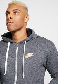 Nike Sportswear - HERITAGE  - Zip-up hoodie - black/heather - 3