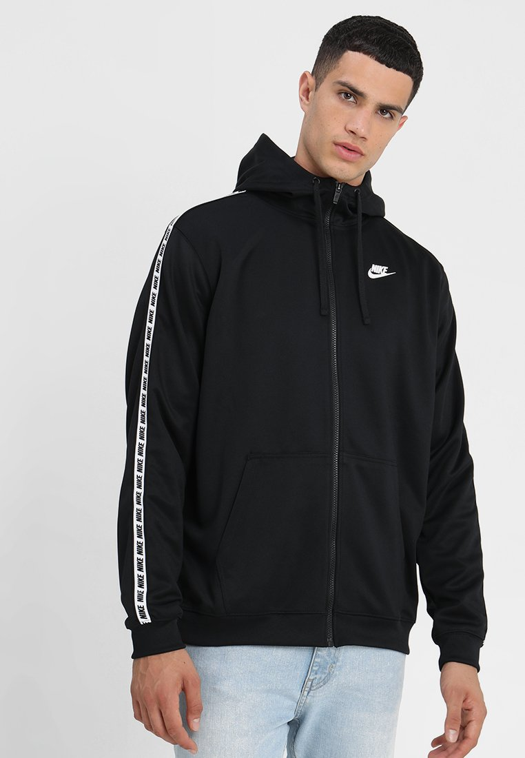 Nike Sportswear - REPEAT HOOD - Træningsjakker - black/white