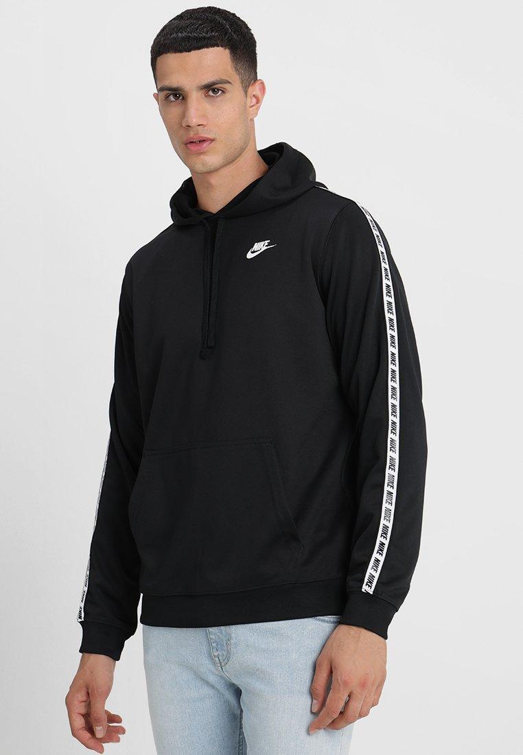 Nike Sportswear - REPEAT HOOD - Jersey con capucha - black/white