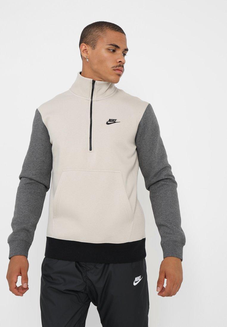 Nike Sportswear - CLUB TOP - Sudadera - string/charcoal heather/black