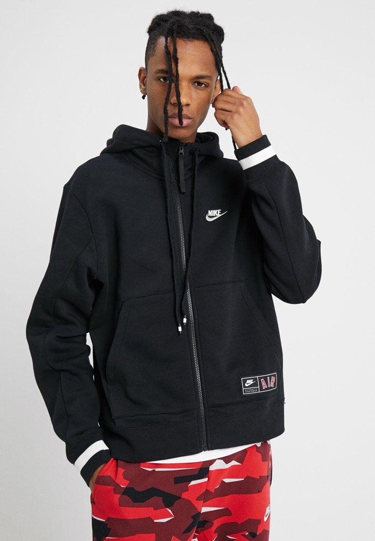 Nike Sportswear - AIR HOODIE - Sudadera con cremallera - black