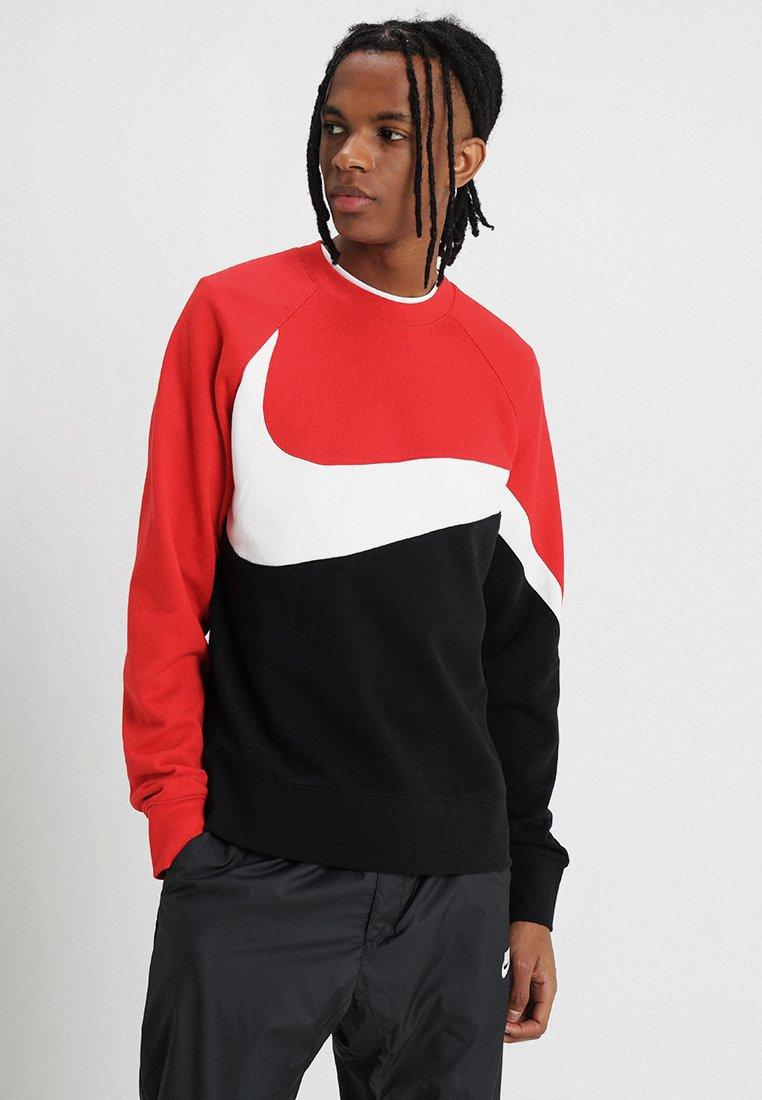 Nike Sportswear - CREW - Sweater - black/white/university red