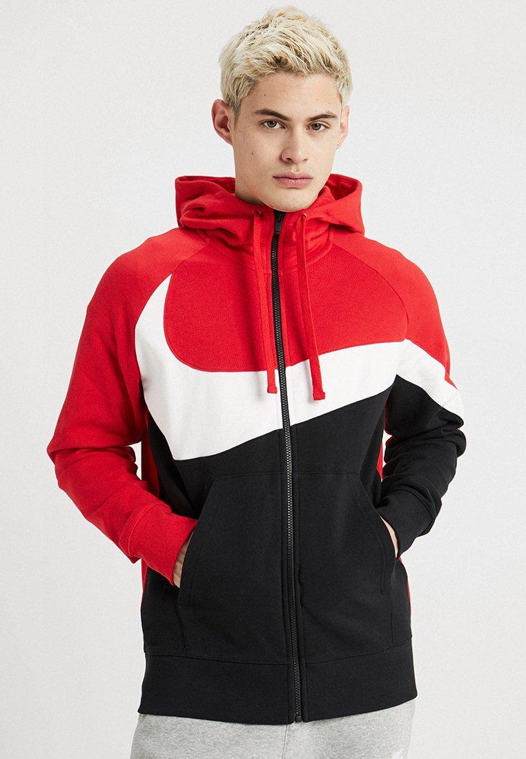 Nike Sportswear - HOODIE - Hoodie met rits - university red/white/black