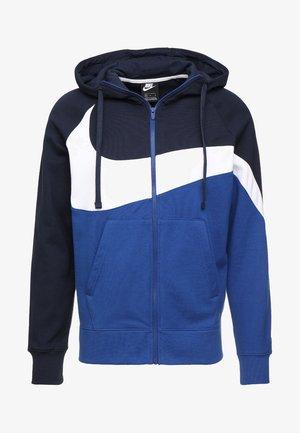 HOODIE - Zip-up hoodie - obsidian/white/indigo force