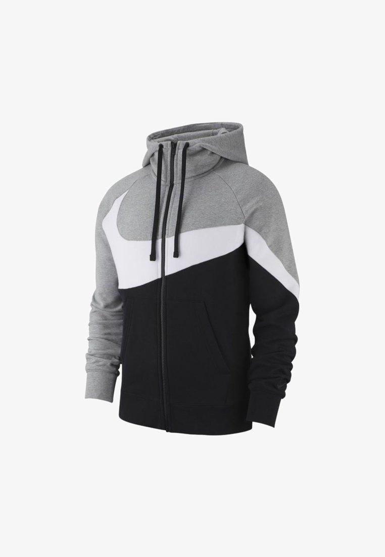 Nike Sportswear - Strickjacke - dark grey heather/black/white