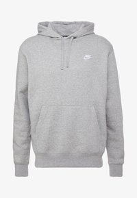 Nike Sportswear - CLUB HOODIE - Hættetrøjer - grey heather/matte silver/white - 4