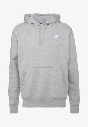 CLUB HOODIE - Jersey con capucha - grey heather/matte silver/white