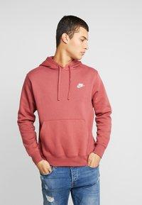 Nike Sportswear - CLUB HOODIE - Bluza z kapturem - cedar/white - 0