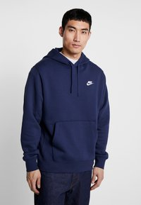 Nike Sportswear - CLUB HOODIE - Bluza z kapturem - midnight navy/white - 0