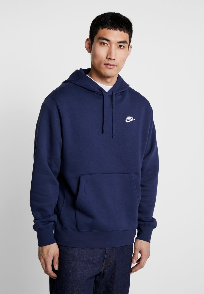 Nike Sportswear - CLUB HOODIE - Bluza z kapturem - midnight navy/white