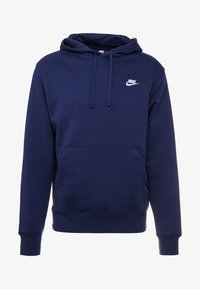 Nike Sportswear - CLUB HOODIE - Bluza z kapturem - midnight navy/white - 4