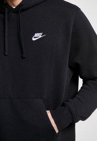 Nike Sportswear - Club Hoodie - Luvtröja - black/white - 5