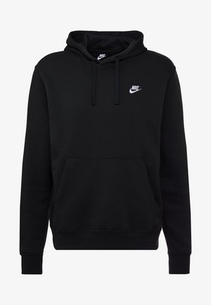 Nike Sportswear Club Fleece Hoodie - Luvtröja - black/white