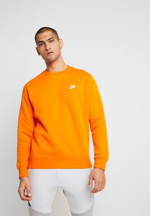 CLUB - Sweatshirt - magma orange/white
