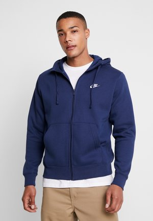 CLUB HOODIE - Felpa aperta - midnight navy/white