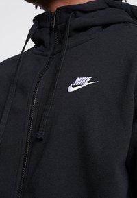 Nike Sportswear - CLUB HOODIE - Zip-up hoodie - black/black/white - 5